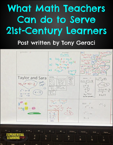 What Can Math Teachers do to Serve 21st-Century Students: There is a lot of buzz going around about helping students build 21st-Century Skills such as communication, collaboration, problem-solving, social-emotional skills and more. How do you teach those important life skills in math class while continuing to help students grow in knowledge? Find out from Tony Geraci, high school math teacher and vlogger.