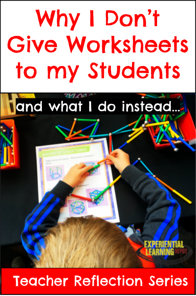 Most teachers would say worksheets aren't the most effective learning tools, yet I see them used ALL the time. Particularly as homework. Why is this? Check out why I don't give drill worksheets to my students, common reasons teachers assign worksheets and why parents support them, and worksheet alternatives.