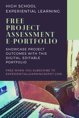 High school project-based learning assessment e-Portfolio - editable and fillable Google Slides.