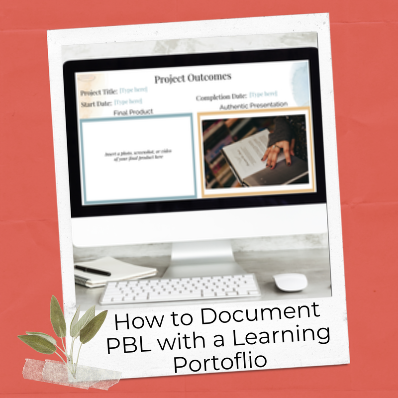 How to document project-based learning experiences with a learning portfolio blog post