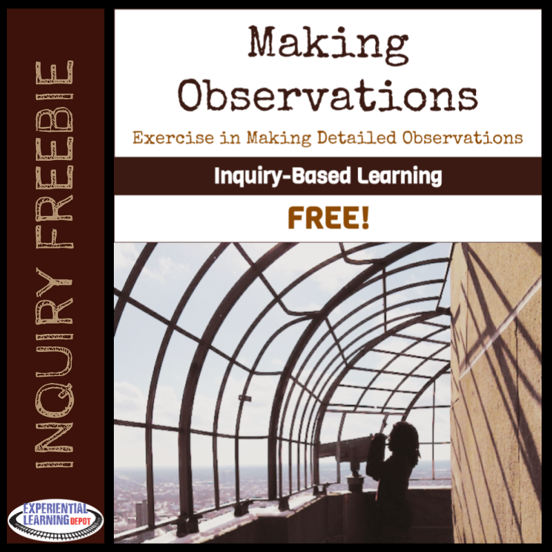Free activity for practicing making observations for inquiry-based learning experiences.