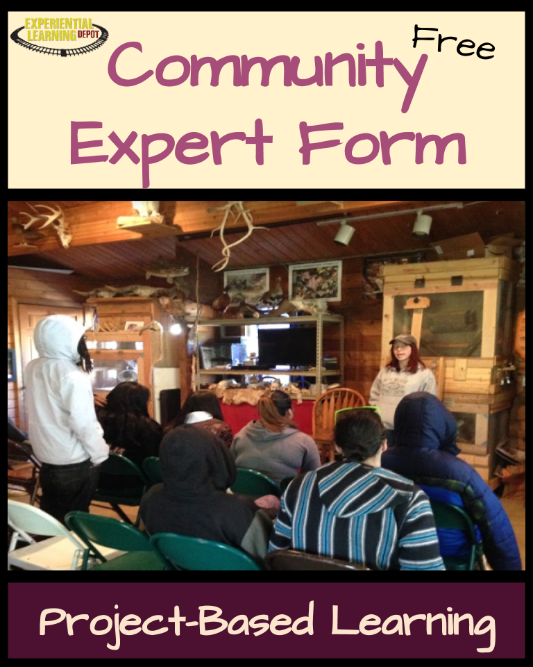 There are so many ways to use the community as a resource for learning. One way is project-based learning. Check out this free expert form to help students plan community expert use in their projects.