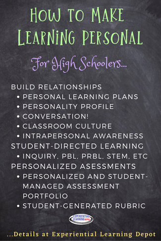 If you're looking to engage your high school students, try personalizing the learning experience. Each learner has their own set of interests, challenges, strengths, goals and more. Not sure how to do that? Start here.