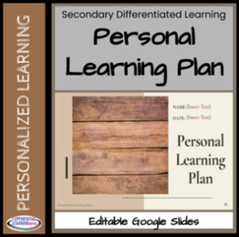 Personal Learning Plan editable Google Slides