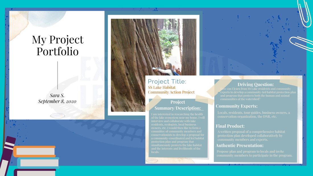 How to assess project-based learning experiences virtually using Google Slides project-based learning e-portfolios.