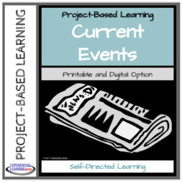 Self-directed project-based learning resource on current events.