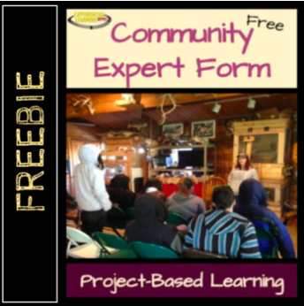 Community Expert Form for project-based learning
